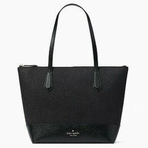 ♠️Kate Spade Lola Glitter Large Tote Bag Black NWT